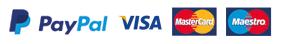 Paypal, Visa, MasterCard, Maestro, American Express