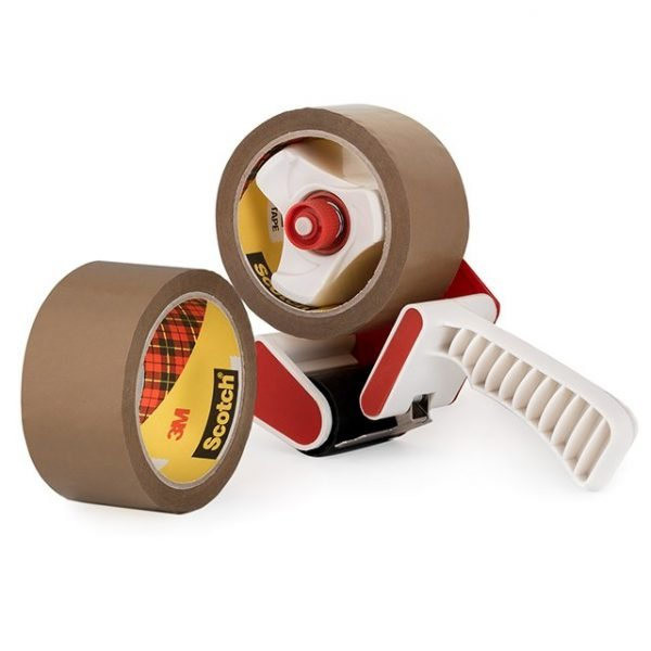 3M SCOTCH Clear and Buff Parcel Packing Tapes General Purpose and Low Noise