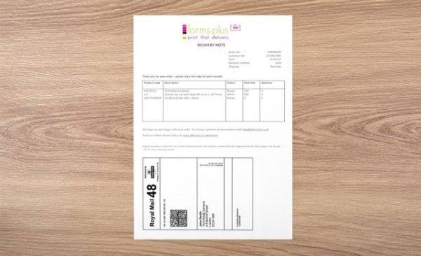 Bespoke Integrated Despatch Label