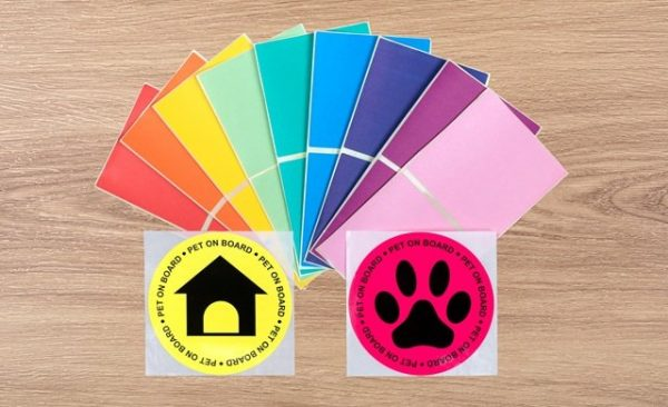 Colourful Custom Labels