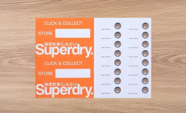 Laser Labels for Superdry