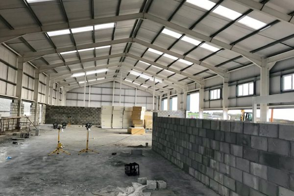Forms Plus Warehouse under construction
