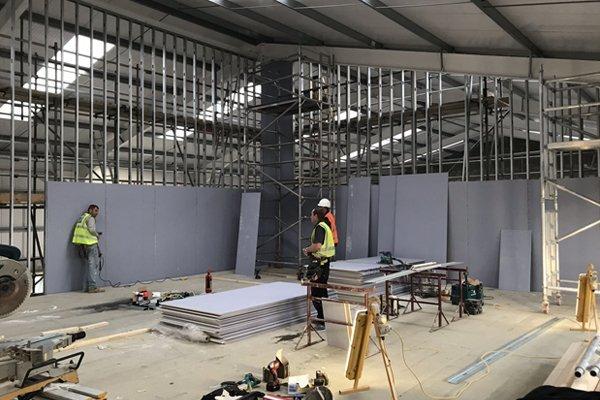 Forms Plus office under construction
