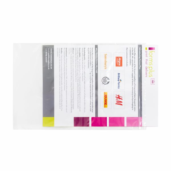 Clear Grip Seal A4 Bags for documents